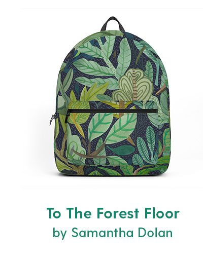 To The Forest Floor Backpack by Samantha Dolan