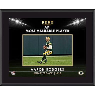 """Aaron Rodgers Green Bay Packers Fanatics Authentic 2020 NFL Most Valuable Player 10.5"""" x 13"""" Sublimated Plaque"""