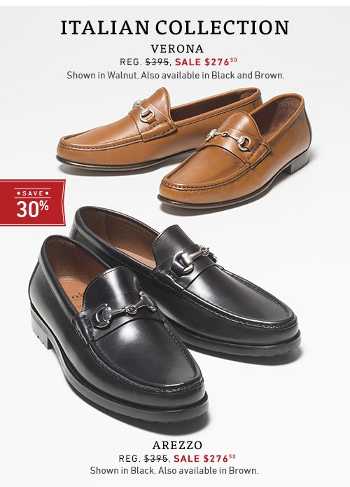 Save 30% on the Italian Collection
