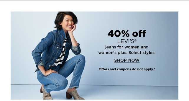 40% off levis jeans for women and womens plus. shop now.