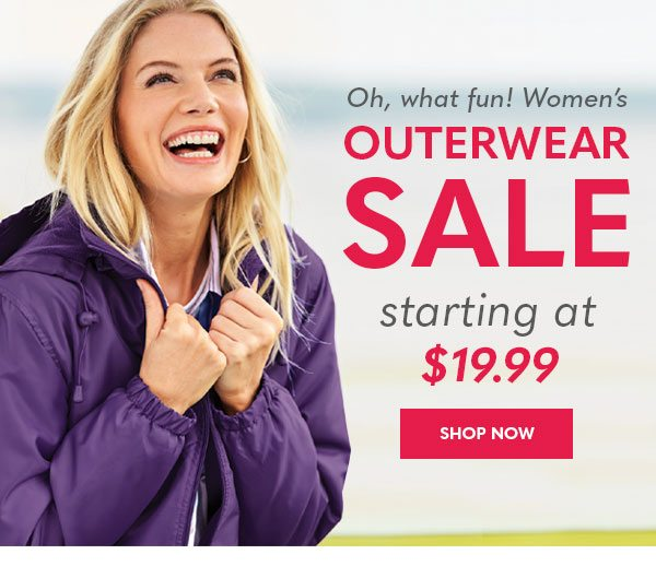 Women's Outerwear SALE starting at $19.99