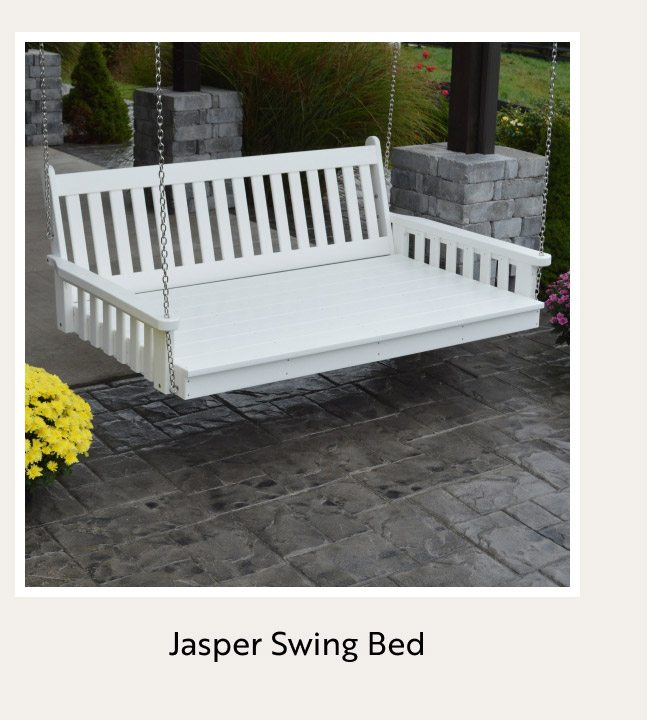 Jasper Recycled Plastic Swing Bed
