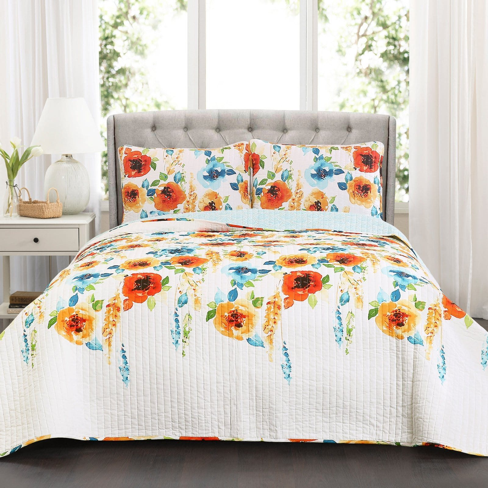 Percy Bloom 3 Piece Quilt Set
