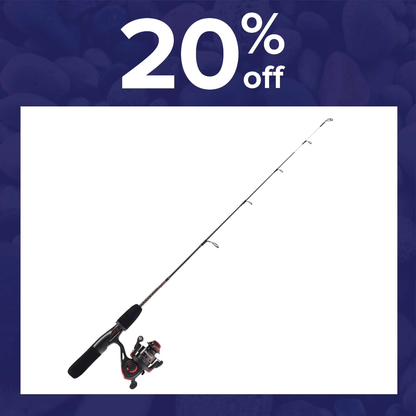 20% off the Shakespeare Ugly Stik GX2 Ice Combo