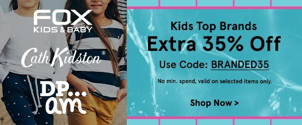 Kids' Top Brands - Extra 35% Off!