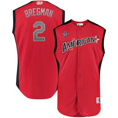 Alex Bregman American League Majestic 2019 MLB All-Star Game Workout Player Jersey - Red