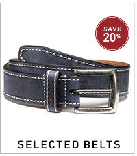 Selected Belts 20% Off >