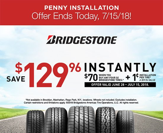 Penny Tire Installation Ends Today, 7/15/18! Don't Let These Savings