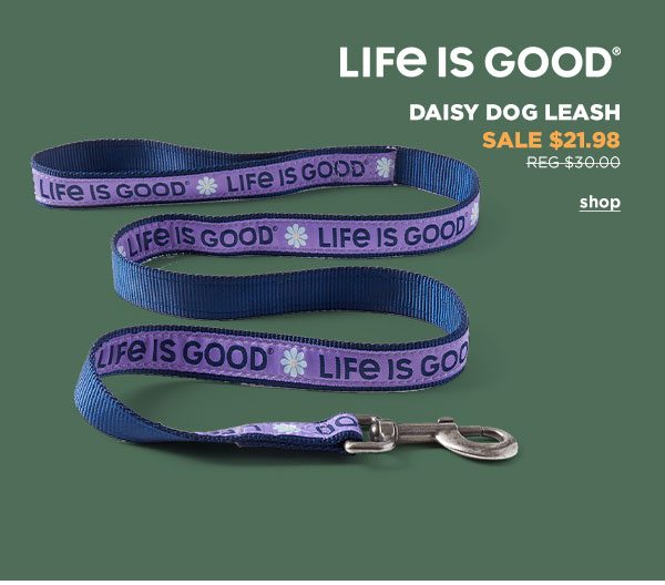Life is Good Daisy Dog Leash - Click to Shop