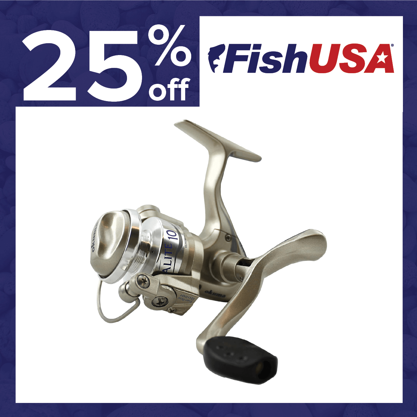 25% off the Okuma Ultralight 10 Spinning Reel