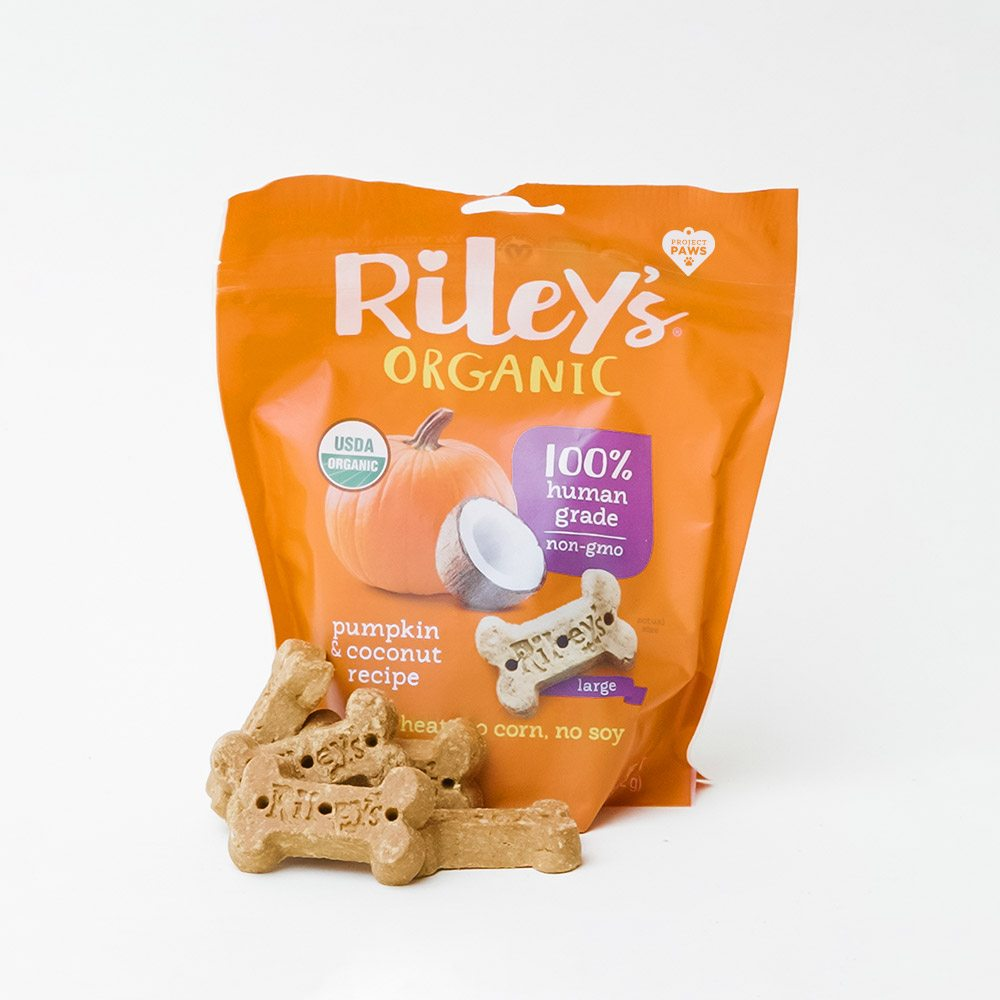 Image of Project Paws® Organic Pumpkin & Coconut Treats by Riley's (5 oz)