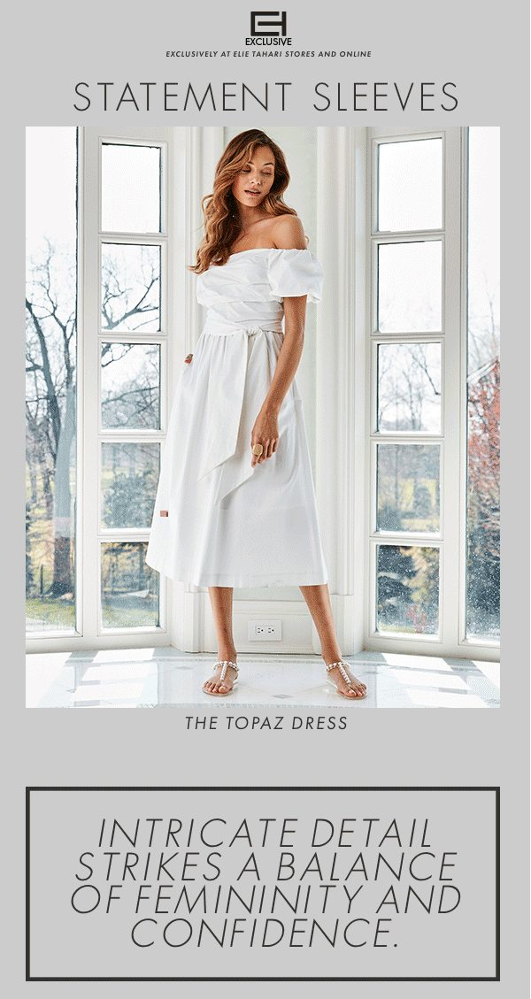 The Topaz Dress - intricate detail strikes a balane of femininity and confidence