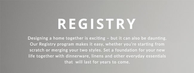 This Is The Fun Part Set Up Your Pottery Barn Registry Today Pottery Barn Email Archive
