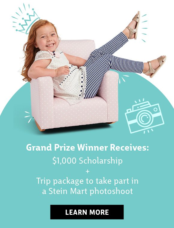 Grand prize winner receives: $1000 scholarship + Trip package to take part in a Stien Mart photoshoot - learn more