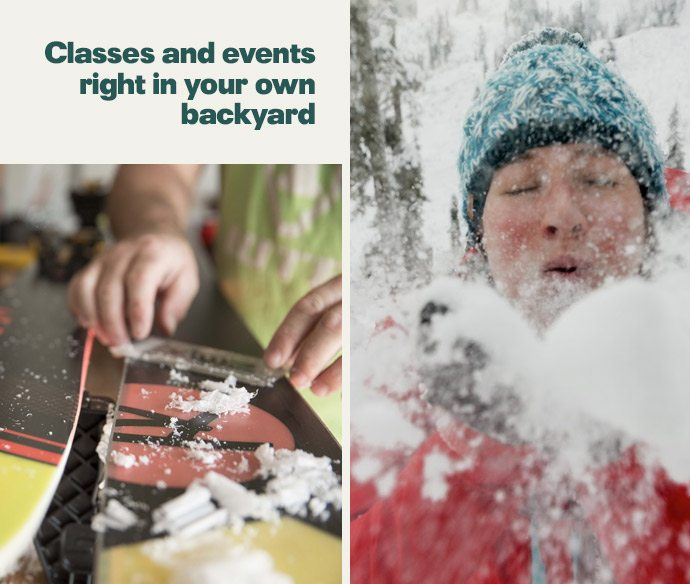 Classes and events right in your own backyard