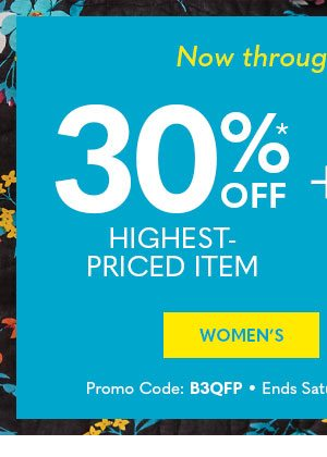 Shop Women's for 30%* off highest-priced item + Free Shipping on $29+