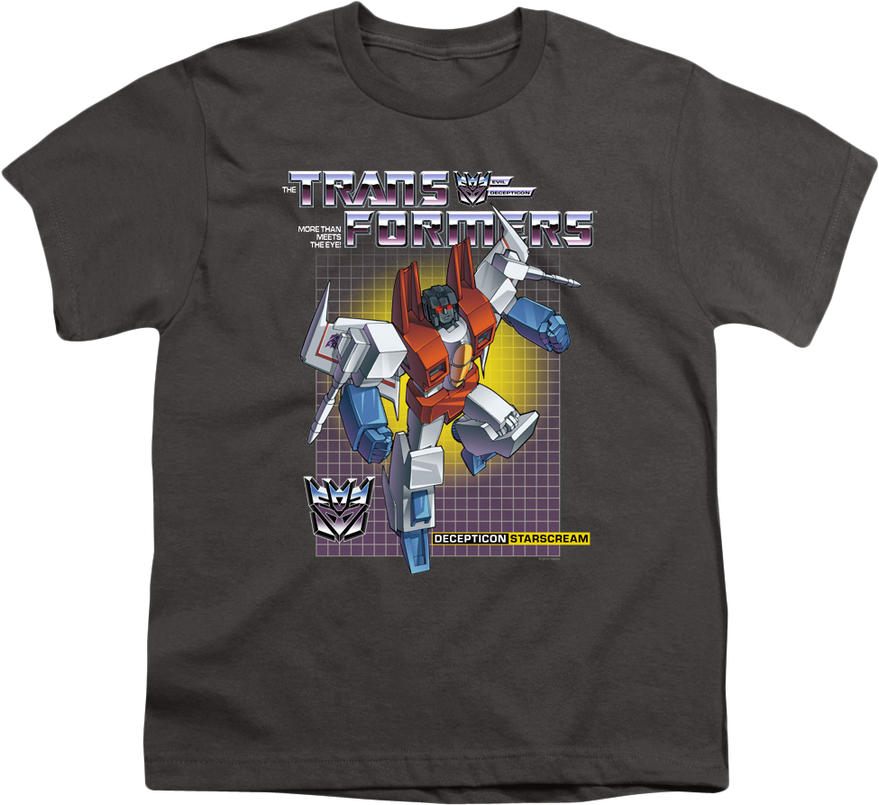 Youth Decepticon Starscream Transformers Shirt