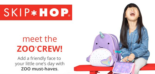SKIP*HOP® | meet the ZOO® CREW! | Add a friendly face to your little one's day with ZOO must-haves.