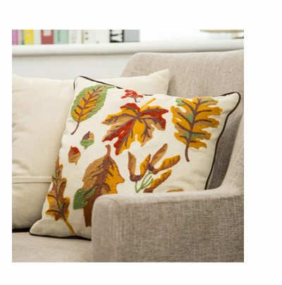 Fall Embroidered Leaves Pillow | SHOP NOW