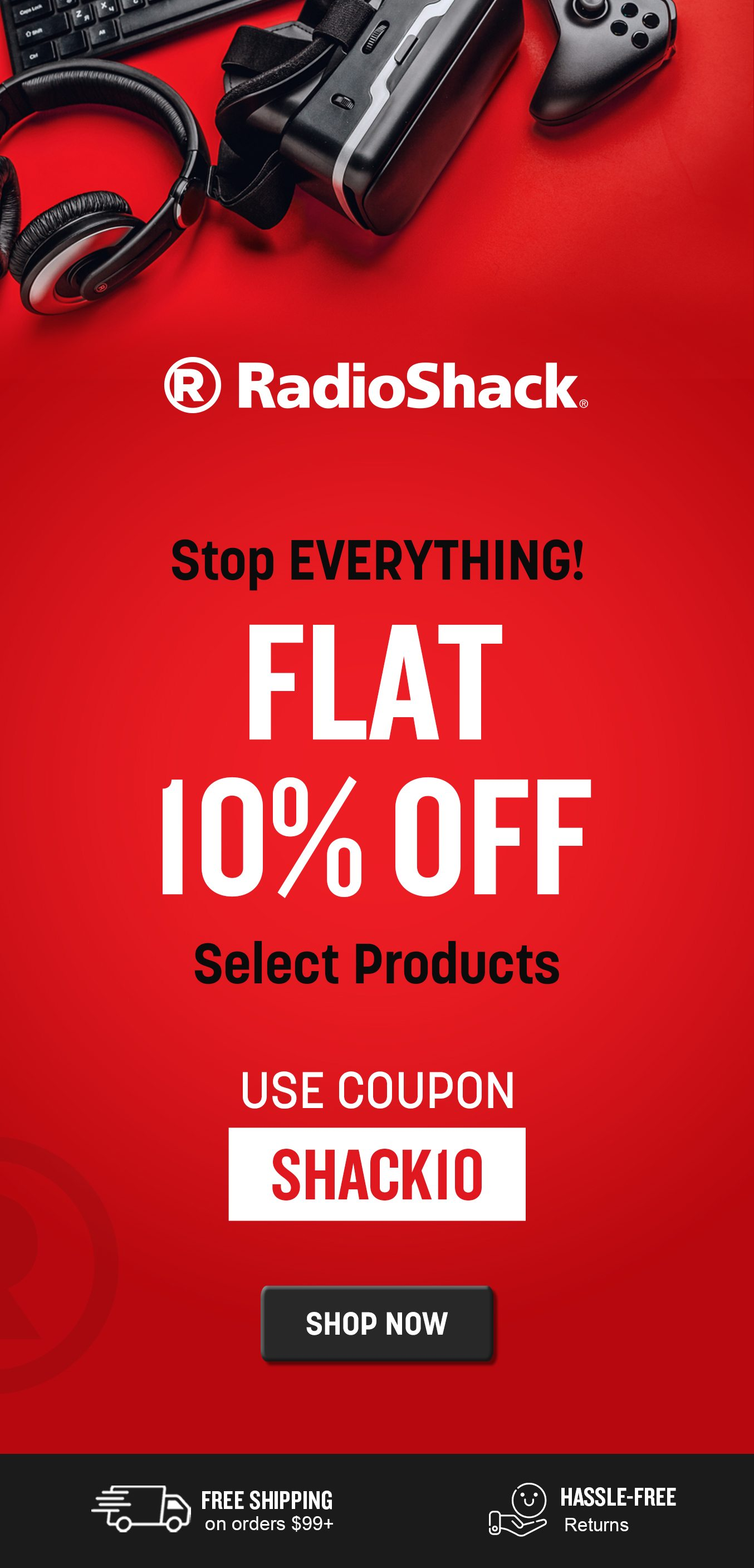 10% OFF SELECT PRODUCTS
