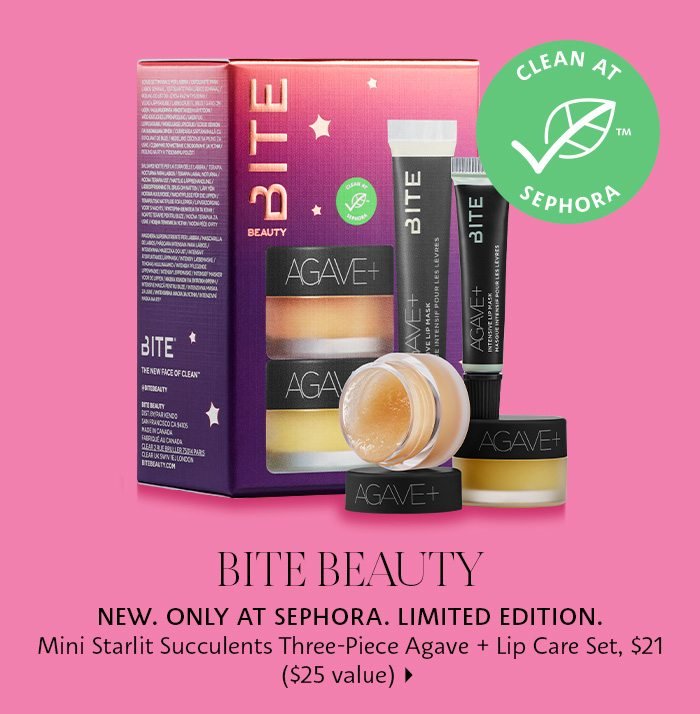 Bite Starlit Succulents Agave + Lip Care Set