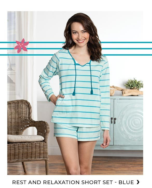 Shop Rest and Relaxation Short Set - Blue