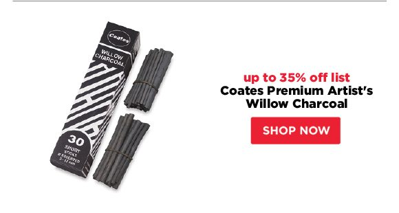 Coates Premium Artist's Willow Charcoal - up to 35% off list