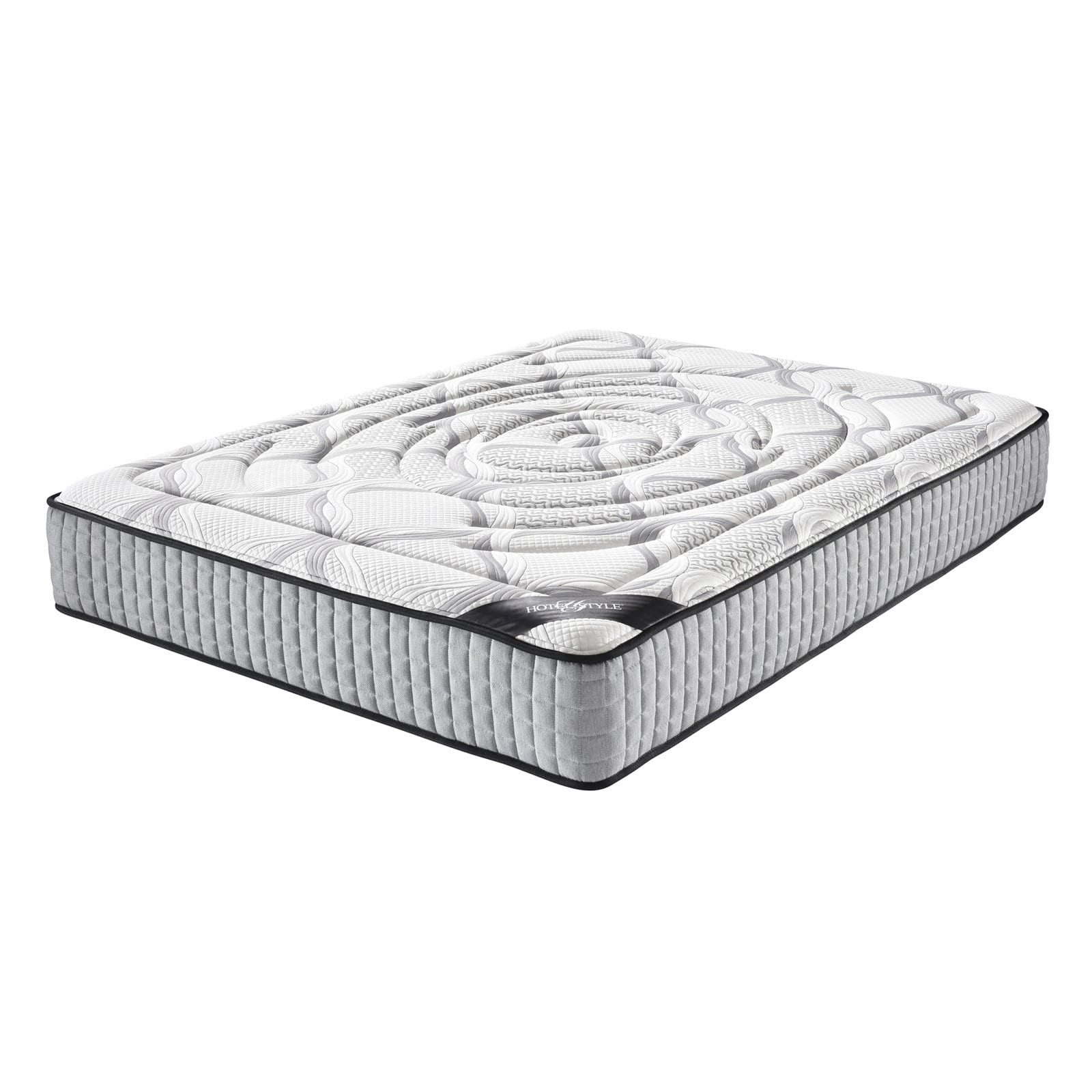 Hotel Style 10.5 in. Plush Top Memory Foam and Individually Encased Spring Mattress
