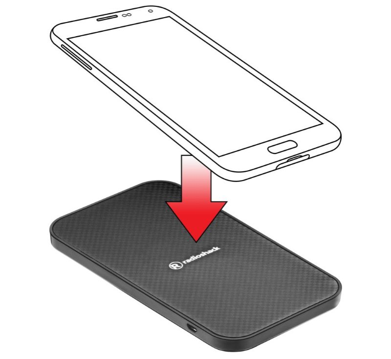 Slim Wireless Charging Pad for Qi-compatible Smartphones
