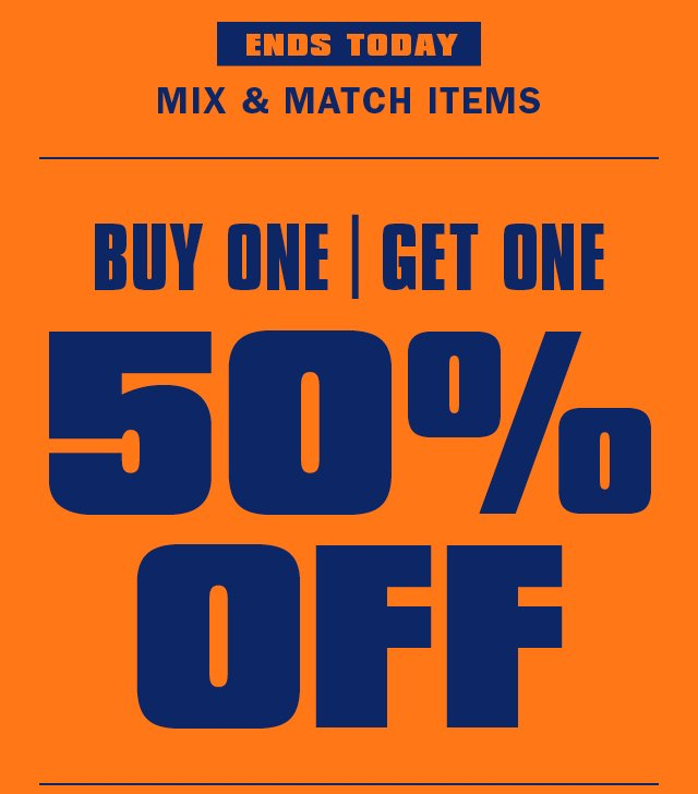Final Hours Buy One Get One 50 Off Holiday Delivery Urban