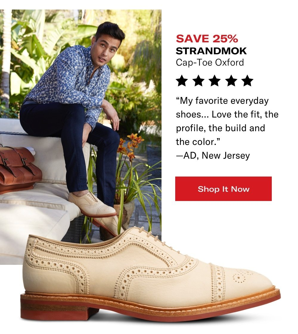 Shop Strandmok Cap-Toe Oxford - Save 25%