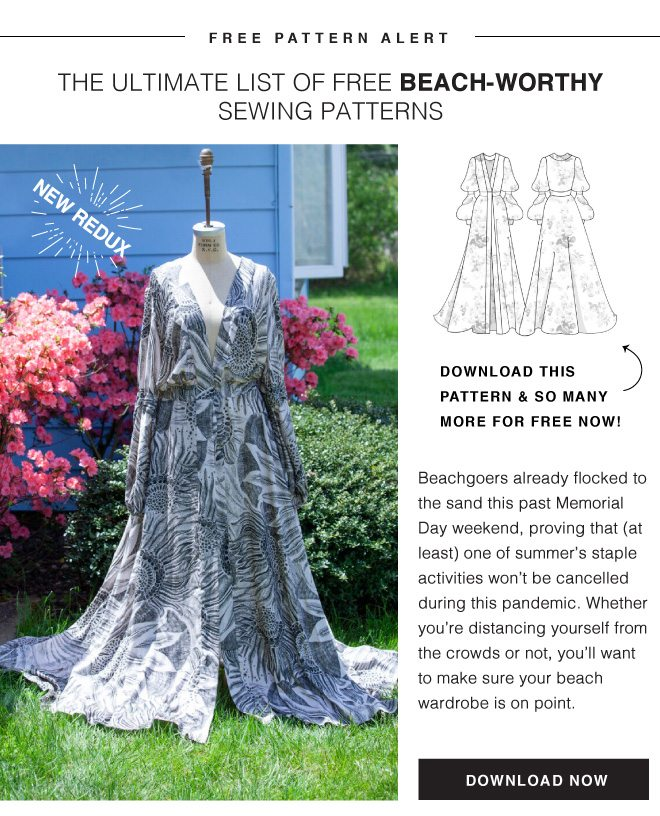 THE ULTIMATE LIST OF FREE BEACH-WORTHY SEWING PATTERNS