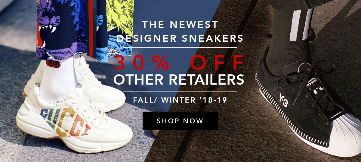 NEW Fall 2018 Designer Sneakers   Up to 30% OFF Gucci, Golden Goose ... dd5286937d