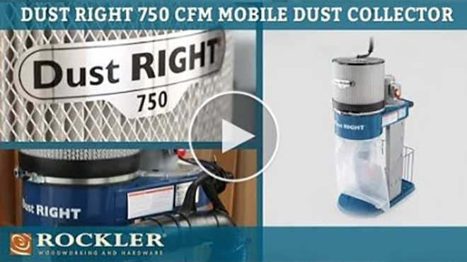 Dust Right 750 CFM Mobile Dust Collector Video available at Rockler.com!