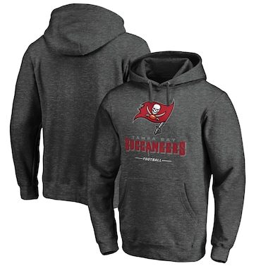 Tampa Bay Buccaneers NFL Pro Line by Fanatics Branded Team Lockup Pullover Hoodie - Heather Gray