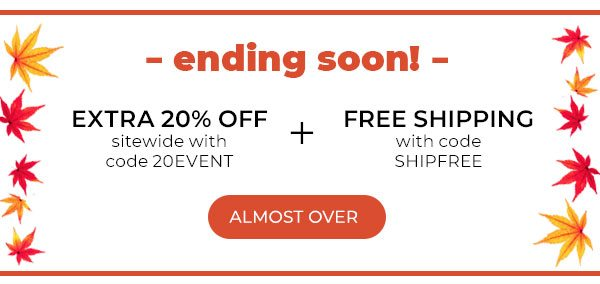 Free shipping and 20% off!