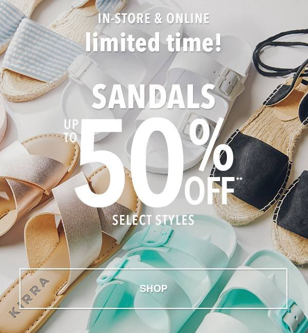 2b9085911e29 Sandals Up To 50% Off   Select Styles - Shop
