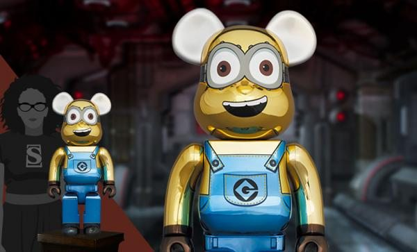 Be@rbrick Dave (Chrome Version) 1000% Collectible Figure by Medicom Toy