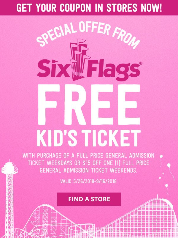 Hey! Want a Free Ticket to Six Flags? - Crazy 8 Email Archive