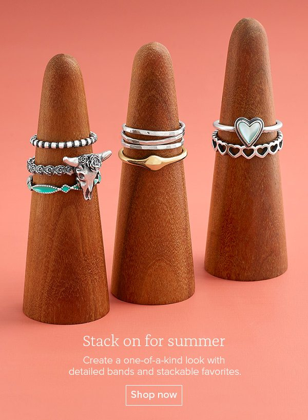 Stack on for summer - Create a one-of-a-kind look with detailed bands and stackable favorites. Shop now