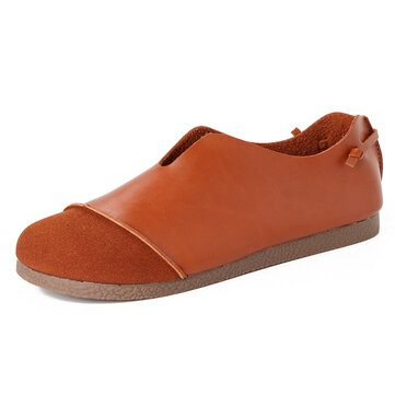 Flat Slip On Brown Loafers