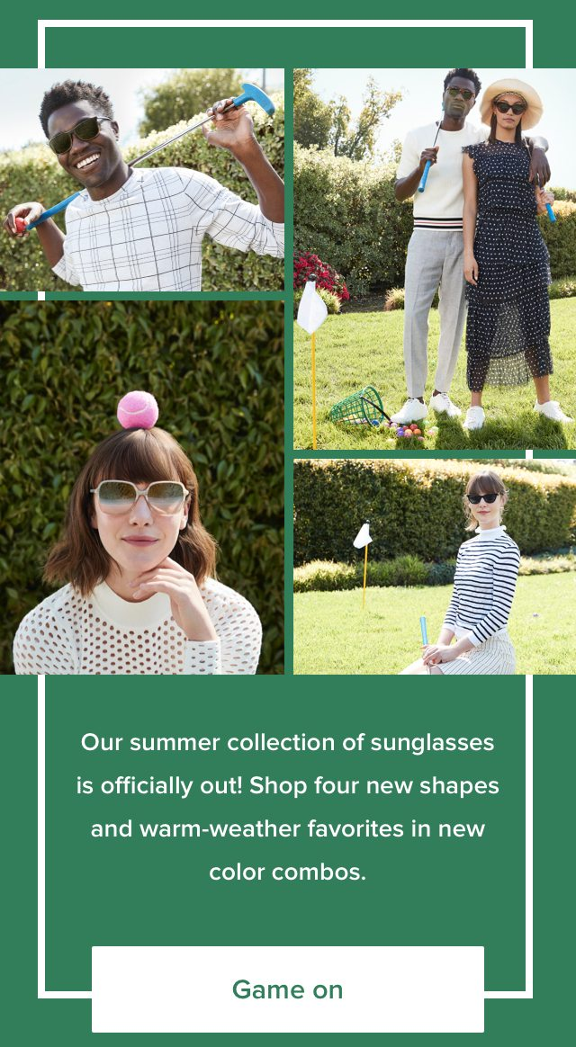 Our summer collection of sunglasses is officially out!