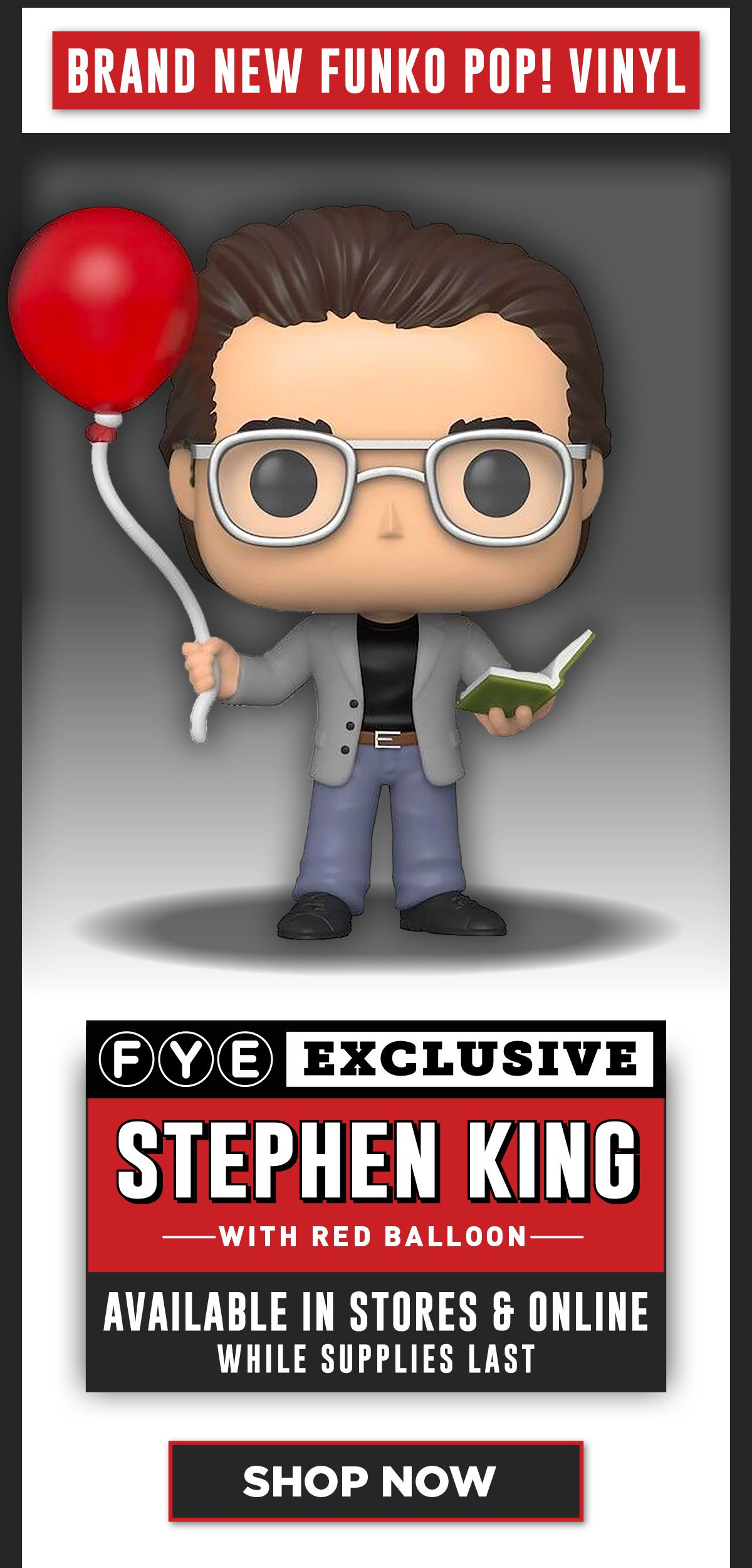 Stephen King with Red Balloon - Exclusive pop! Vinyl