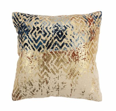 Geometric Tribal Natural 100% Cotton Polyfilled Pillow | SHOP NOW