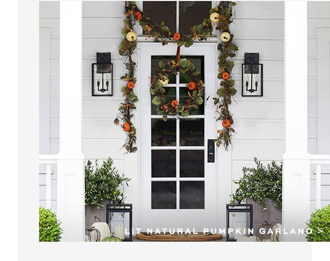 LIT NATURAL PUMPKIN GARLAND