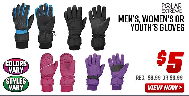 Polar Extreme Men's, Women's or Youth's Gloves