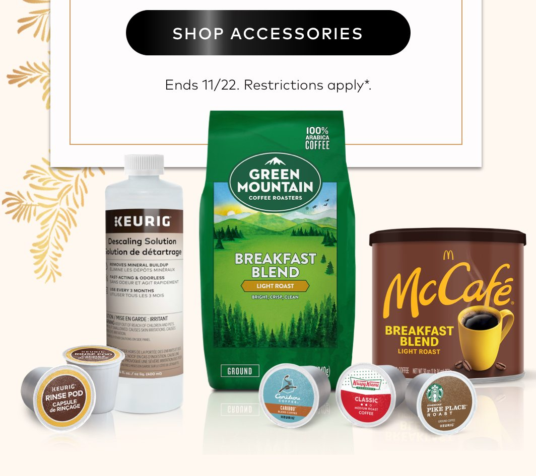 20% off accessories for Early Black Friday