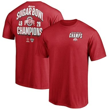 Ohio State Buckeyes Fanatics Branded College Football Playoff 2021 Sugar Bowl Champions Fumble T-Shirt - Scarlet