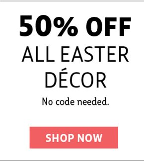 50% off easter decor