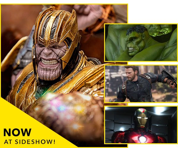 Now Available at Sideshow - Thanos, Captain America, Hulk, Iron Man